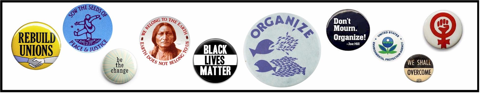 Activist buttons